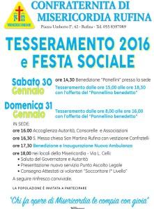 Tesseramento e festa sociale 2016